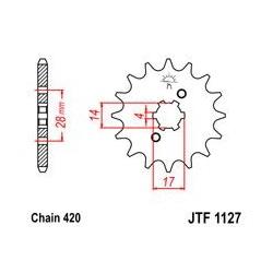 ZĘBATKA JT PRZÓD JTF1127.13