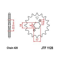 ZĘBATKA JT PRZÓD JTF1128.11