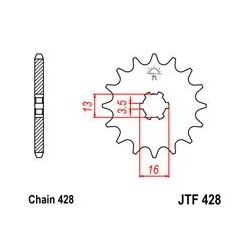 ZĘBATKA JT PRZÓD JTF428.14