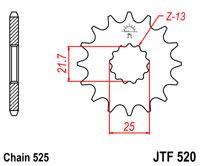 ZĘBATKA JT PRZÓD JTF520.15