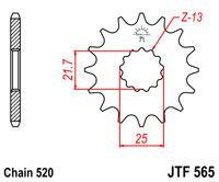 ZĘBATKA JT PRZÓD JTF565.15