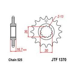 ZĘBATKA JT PRZÓD JTF1370.16