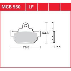 KLOCKI HAMULCOWE LUCAS MCB550