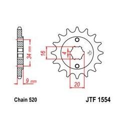 ZĘBATKA JT PRZÓD JTF1554.13