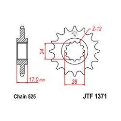 ZĘBATKA JT PRZÓD JTF1371.15