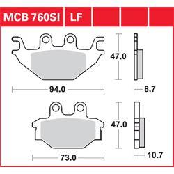 KLOCKI HAMULCOWE LUCAS MCB760SI