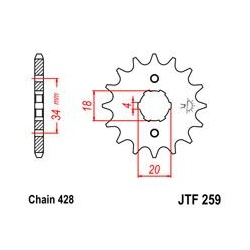ZĘBATKA JT PRZÓD JTF259.13