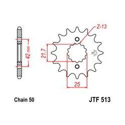 ZĘBATKA JT PRZÓD JTF513.16