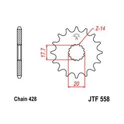 ZĘBATKA JT PRZÓD JTF558.14