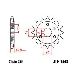 ZĘBATKA JT PRZÓD JTF1448.14
