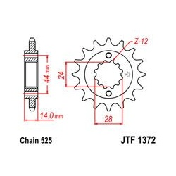 ZĘBATKA JT PRZÓD JTF1372.17