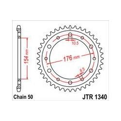 ZĘBATKA JT TYŁ JTR1340.43