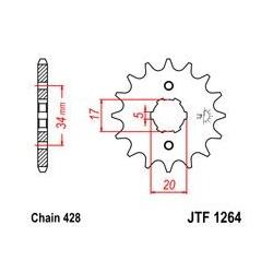 ZĘBATKA JT PRZÓD JTF1264.16