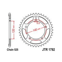 ZĘBATKA JT TYŁ JTR1792.48