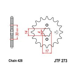 ZĘBATKA JT PRZÓD JTF273.13