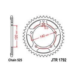 ZĘBATKA JT TYŁ JTR1792.41