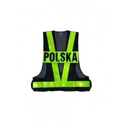 KAMIZELKA ODBLASKOWA Z NAPISEM POLSKA ROZ. XXL