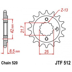 ZĘBATKA JT PRZÓD JTF512,15