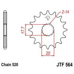 ZĘBATKA JT PRZÓD JTF564,13