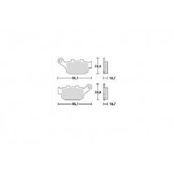 KLOCKI HAMULCOWE FDB531P