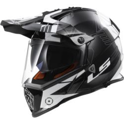 KASK LS2 MX436 PIONEER ELEMENT BLACK WHITE TITAN L