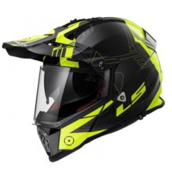 KASK LS2 MX436 PIONEER BLACK-YELLOW ROZ. XXL