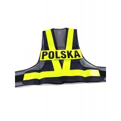 KAMIZELKA ODBLASKOWA Z NAPISEM POLSKA ROZ. L