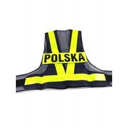 KAMIZELKA ODBLASKOWA Z NAPISEM POLSKA ROZ. M
