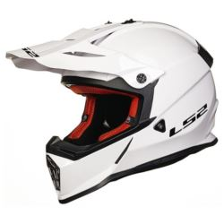 KASK LS2 MX437 FAST SOLID WHITE ROZ. S