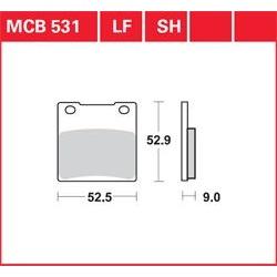 KLOCKI HAMULCOWE LUCAS MCB531