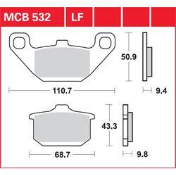 KLOCKI HAMULCOWE LUCAS MCB532