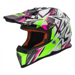 KASK LS2 MX437 FAST STRONG W/BLUE PINK S