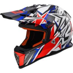 KASK LS2 MX437 FAST STRONG W/BLUE RED XS