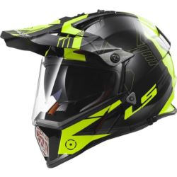 KASK LS2 MX436 PIONEER  BLACK-YELLOW ROZ. S