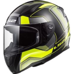 KASK LS2 FF353 RAPID CARRERA B/HI VIS YELLOW 3XL