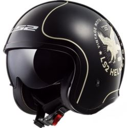 KASK LS2 OF599 SPITFIRE FLIER BLACK ROZ. XL