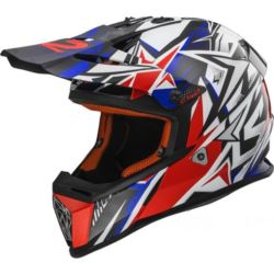 KASK LS2 M37 FAST MINI STRONG WHITE RED BLUE S