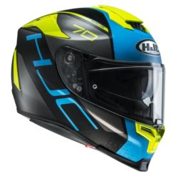 KASK HJC R-PHA-70 VIAS FLUO YELLOW/BLUE ROZ: S