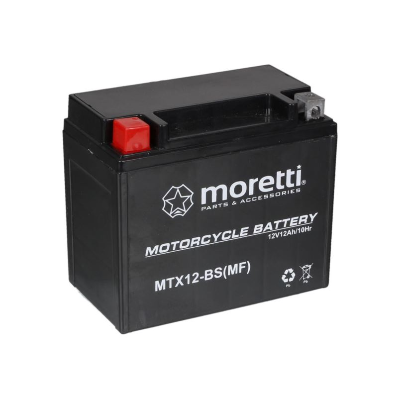 akumulator mtx12 bs agm gel ytx12 bs moretti. Black Bedroom Furniture Sets. Home Design Ideas