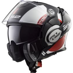 KASK LS2 FF399 VALIANT AVANT WHITE BLACK RED XL