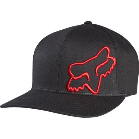 CZAPKA Z DASZKIEM FOX FLEX 45 BLACK/RED S/M