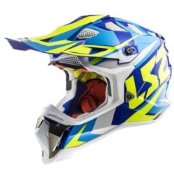 KASK LS2 MX470 SUBVERTER NIMBLE WHITE BLUE YEL XS