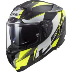 KASK LS2 FF327 CHALLENGER SQUADRON HV YELLOW S
