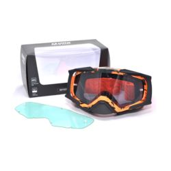 GOGLE IMX DUST GRAPHIC ORANGE/ BLACK MATT 2 SZYBY