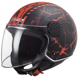 KASK LS2 OF558 SPHERE LUX SNAKE MATT BLACK RED S