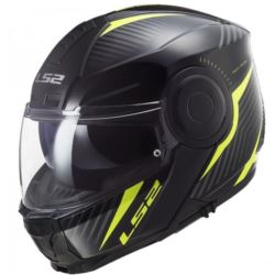 KASK LS2 FF902 SCOPE SKID BL H-V YELL  S+ PINLOCK
