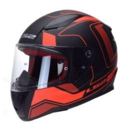 KASK LS2 FF353 RAPID CARRERA MATT BLACK RED XL