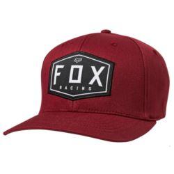CZAPKA Z DASZKIEM FOX CREST FLEXFIT CRANBERRY S/M