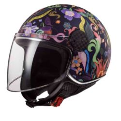 KASK LS2 OF558 SPHERE LUX BLOOM BLUE PINK L